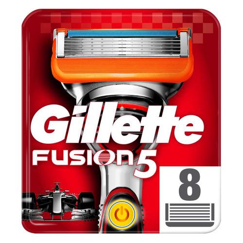 Сменные кассеты для бритья GILLETTE Fusion Power, 8шт [81382403] цена 2017