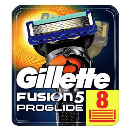 Сменные кассеты для бритья GILLETTE Fusion ProGlide, 8шт [81469904] цена 2017