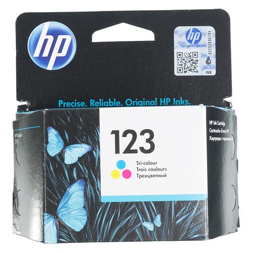 Картридж HP 123, многоцветный [f6v16ae] картридж струйный hp 91 c9465a pigment 775 мл photo black для dj z6100