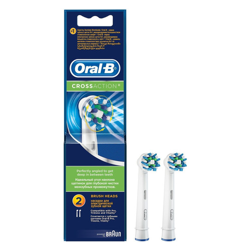Сменные насадки для электрической зубной щетки ORAL-B CrossAction 2 шт [80270321] 12v 3 pins adjustable frequency led flasher relay motorcycle turn signal indicator motorbike fix blinker indicator p34