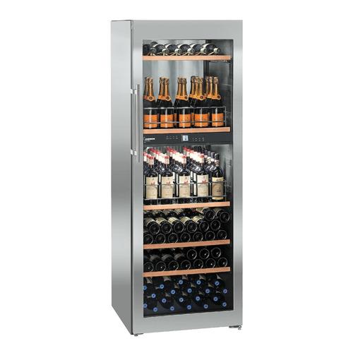 Винный шкаф LIEBHERR WTpes 5972, однокамерный, серебристый цена и фото