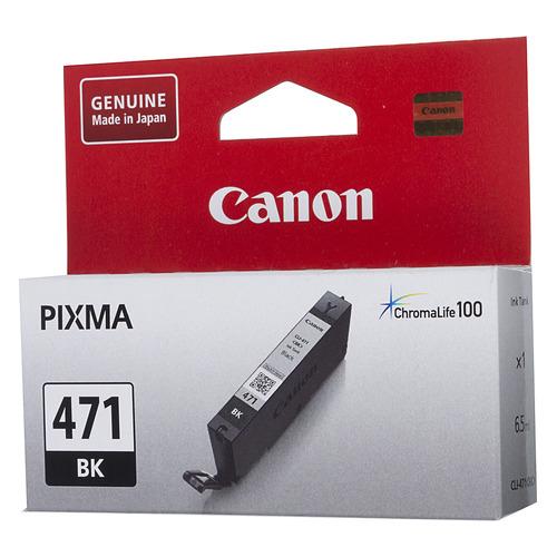 цена на Картридж CANON CLI-471BK, черный [0400c001]