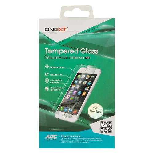Защитное стекло для экрана ONEXT для Apple iPhone 5/5s/5c/SE, 1 шт [40596]  - купить со скидкой