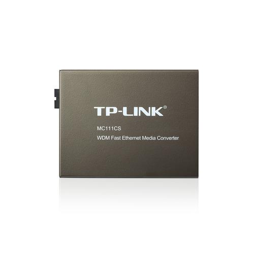 Фото - Медиаконвертер TP-Link MC111CS 10/100Mbit/s RJ45 медиаконвертер tp link mc220l 1000mbit rj45 sfp minigbic ieee 802 3ab ieee 802 3z