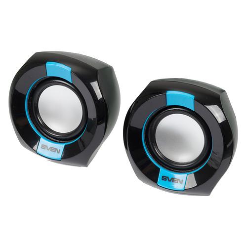 Колонки SVEN 150, 2.0, черный/ синий [sv-013509] колонки sven 150 sv 013509 black blue