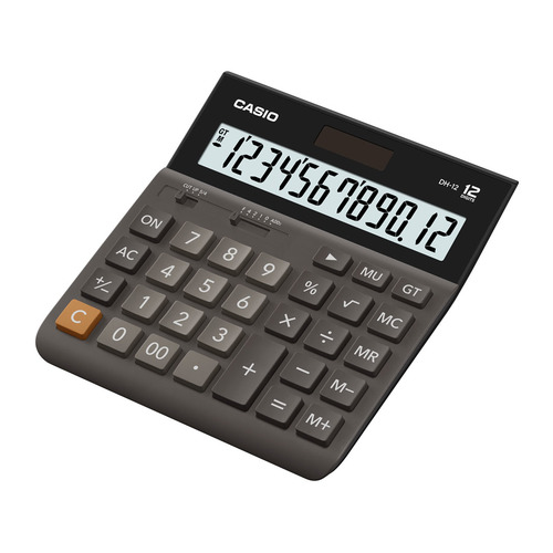 Калькулятор CASIO DH-12, 12-разрядный, коричневый калькулятор canon ls 123k mpk 12 разрядный розовый