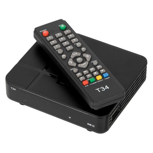 Ресивер DVB-T2 СИГНАЛ T34, черный [18802]