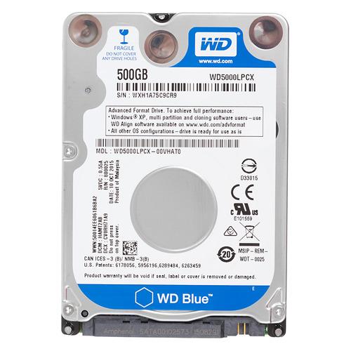 Жесткий диск WD Blue WD5000LPCX, 500ГБ, HDD, SATA III, 2.5 жесткий диск wd blue wd10ezrz 1тб hdd sata iii 3 5