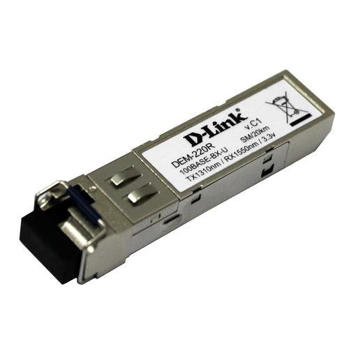 Трансивер D-Link DEM-220R 100Base-BX-U Single-Mode 20KM SFP TX-1310/RX-1550nm трансивер d link 330t 10km a1a wdm sfp 1x1000base bx d tx 1550nm rx 1310nm