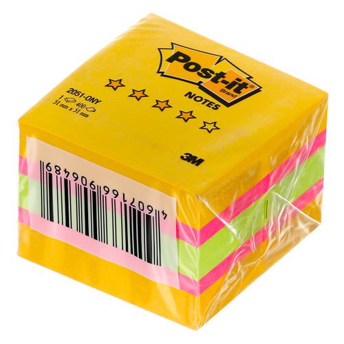 цена на Блок самоклеящийся бумажный 3M Post-it 2051-ONY Original Лето 7100041034 51x51мм 400лист. 3цв.в упак 45 шт./кор.