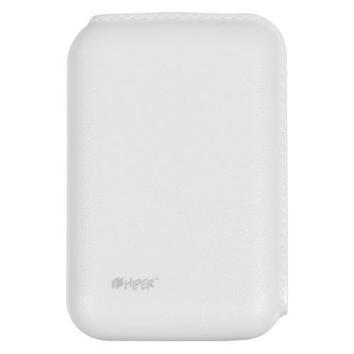 Внешний аккумулятор (Power Bank) HIPER SP7500, 7500мAч, белый [sp7500 white] внешний аккумулятор hiper sp7500 li ion 7500mah 2 1a 1a 2xusb черный