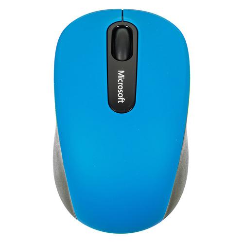 Мышь MICROSOFT Mobile 3600, оптическая, беспроводная, голубой и черный [pn7-00024] мышь microsoft bluetooth черный оптическая 1000dpi беспроводная bt 2but