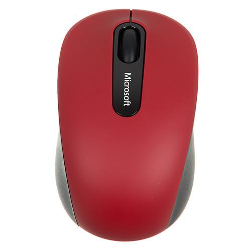 Мышь MICROSOFT Mobile 3600, оптическая, беспроводная, красный и черный [pn7-00014] мышь microsoft bluetooth черный оптическая 1000dpi беспроводная bt 2but
