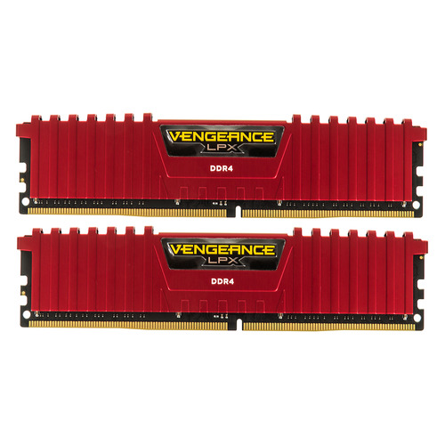 Модуль памяти CORSAIR Vengeance LPX CMK32GX4M2A2666C16R DDR4 - 2x 16Гб 2666, DIMM, Ret цена и фото