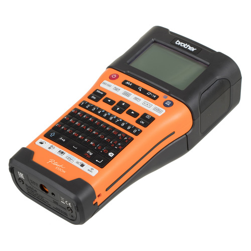 Фото - Термопринтер Brother P-touch PT-E550WVP (для печ.накл.) переносной оранжевый/черный лента ламинирования brother tz221 9мм для p touch черный на белом