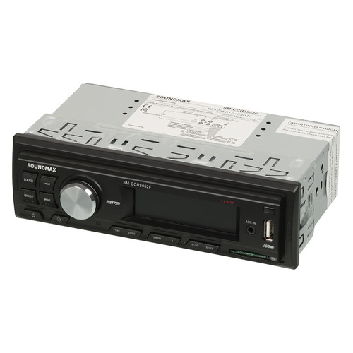 Автомагнитола SOUNDMAX SM-CCR3052F, USB, SD/MMC автомагнитола phantom dv 7034 usb sd
