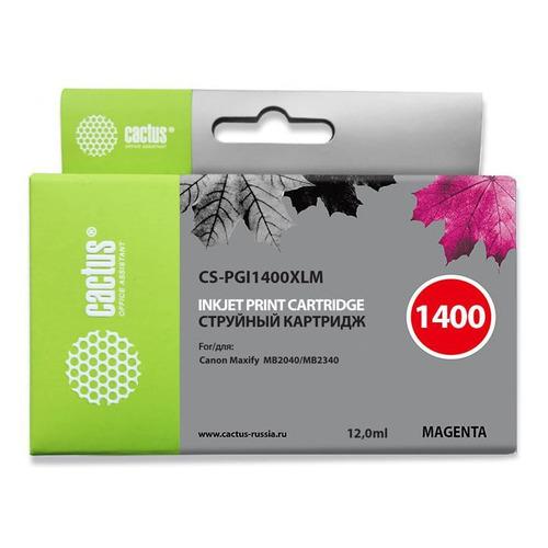 Картридж CACTUS CS-PGI1400XLM, пурпурный картридж cactus cs tnp27m пурпурный