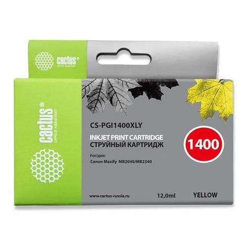 Картридж CACTUS CS-PGI1400XLY, желтый картридж cactus cs pgi1400xly совместимый