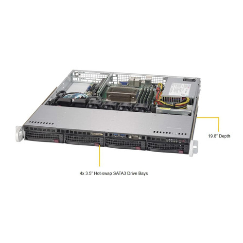 Фото - Платформа SuperMicro SYS-5019S-MN4 RAID 1x350W сервер supermicro sys 5019s m2