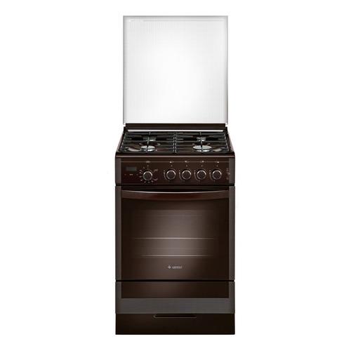 Газовая плита GEFEST ПГ 5300-03 0047, газовая духовка, стеклянная крышка, коричневый