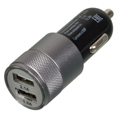 Автомобильное зарядное устройство BURO TJ-189, 2xUSB, 2.1A, черный цена и фото