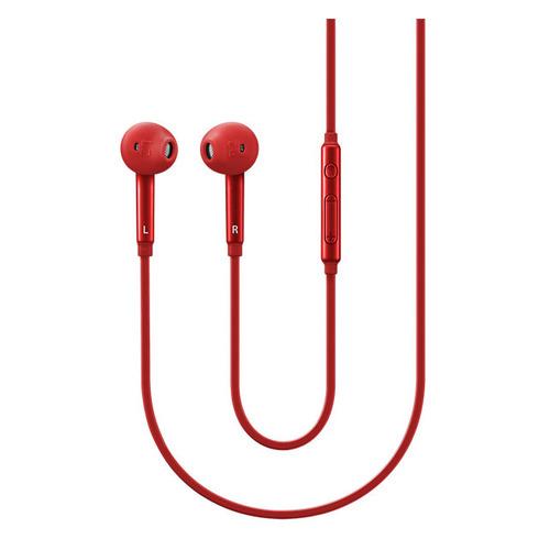 Наушники с микрофоном SAMSUNG EO-EG920L, 3.5 мм, вкладыши, красный [eo-eg920lregru] наушники philips she3590rd 10 вкладыши красный проводные