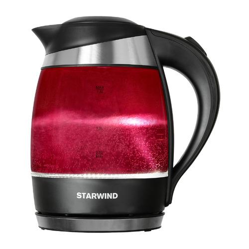 Чайник электрический STARWIND SKG2214, 2200Вт, малиновый
