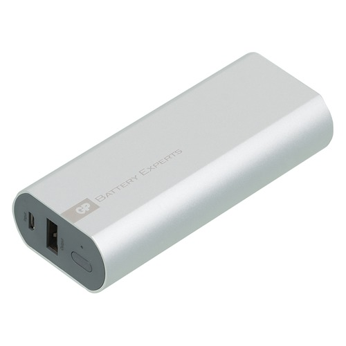 Внешний аккумулятор GP Portable PowerBank FN05M, 5200мAч, серебристый [gpfn05mse-2crb1]