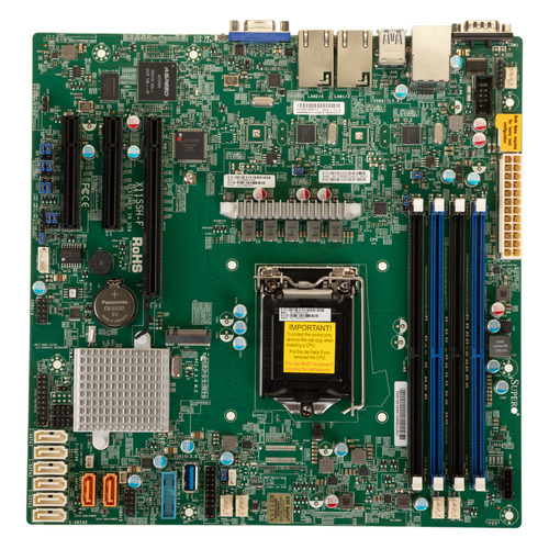 Серверная материнская плата SUPERMICRO MBD-X11SSH-F-O, Ret материнская плата supermicro mbd x11sae f o soc 1151 ic236