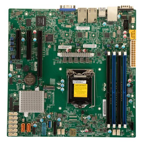 Серверная материнская плата SUPERMICRO MBD-X11SSH-F-O, Ret