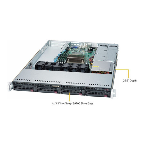 Фото - Платформа SuperMicro SYS-5019S-WR RAID 2x500W сервер supermicro sys 5019s m2