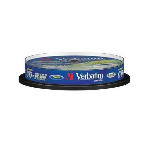 Фото - Оптический диск CD-RW VERBATIM 700Мб 12x, 10шт., cake box [43480] оптический диск cd r verbatim 700мб 52x 200шт slim case [43347]