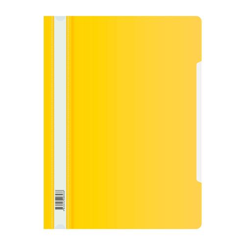 Папка-скоросшиватель Бюрократ Люкс -PSL20YEL A4 прозрач.верх.лист пластик желтый 0.14/0.18 200 шт./кор. цены