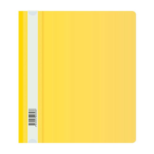 Папка-скоросшиватель Бюрократ Люкс -PSL20A5YEL A5 прозрач.верх.лист пластик желтый 0.14/0.18 200 шт./кор. цены