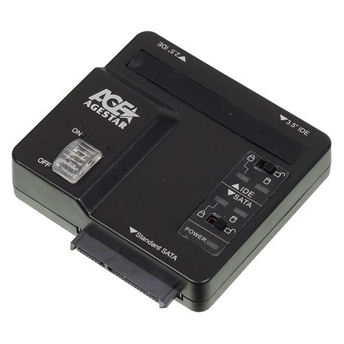 Док-станция для HDD/SSD AGESTAR 3FBCP, черный  - купить со скидкой