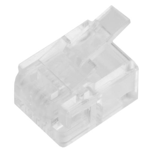 Коннектор Lanmaster (TWT-PL12-6P4C/100) UTP RJ12 прозрачный (упак.:100шт)