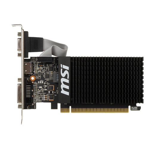 Видеокарта MSI nVidia GeForce GT 710 , GT 710 1GD3H LP, 1Гб, DDR3, Low Profile, Ret [geforce gt 710 1gd3h lp] видеокарта msi geforce gt 710 954mhz pci e 2 0 1024mb 1600mhz 64 bit dvi hdmi hdcp low profile gt 710 1gd3h lp