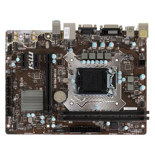 цена на Материнская плата MSI H110M PRO-VD, LGA 1151, Intel H110, mATX, Ret