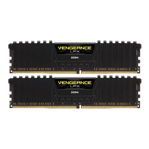 Модуль памяти CORSAIR Vengeance LPX Black Heat spreader CMK32GX4M2A2133C13 DDR4 - 2x 16Гб 2133, DIMM, Ret  - купить со скидкой