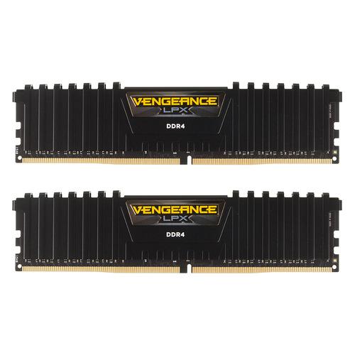 Модуль памяти CORSAIR Vengeance LPX CMK8GX4M2A2400C16 DDR4 - 2x 4Гб 2400, DIMM, Ret модуль памяти corsair vengeance lpx cmk16gx4m2b3466c16 ddr4 2x 8гб 3466 dimm ret