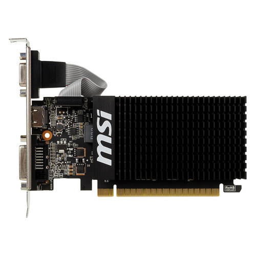 все цены на Видеокарта MSI nVidia GeForce GT 710 , GT 710 2GD3H LP, 2Гб, DDR3, Low Profile, Ret [geforce gt 710 2gd3h lp] онлайн