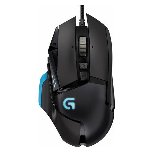 лучшая цена Мышь LOGITECH G502 RGB Proteus Spectrum, игровая, оптическая, проводная, USB, черный [910-004617]