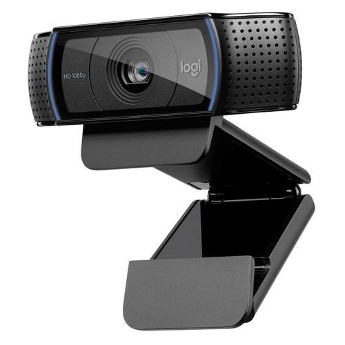 Web-камера LOGITECH HD Pro C920, черный [960-001055] камера web logitech pro stream c922 usb2 0 с микрофоном 960 001088 473299 черный