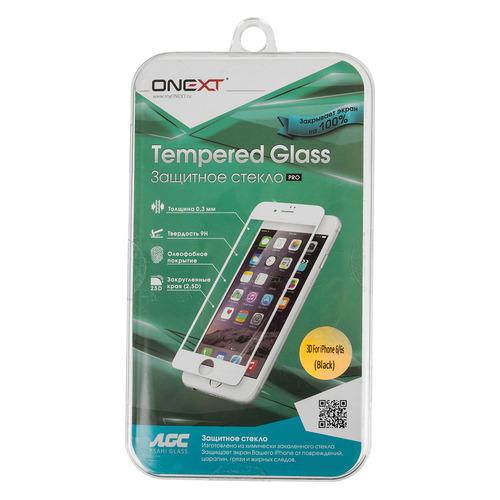Защитное стекло для экрана ONEXT 3D для Apple iPhone 6/6S, 1 шт, черный [41003] цена и фото