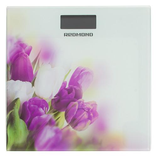 Напольные весы REDMOND RS-733, до 180кг, цвет: белый/тюльпан [rs-733 (тюльпан)]
