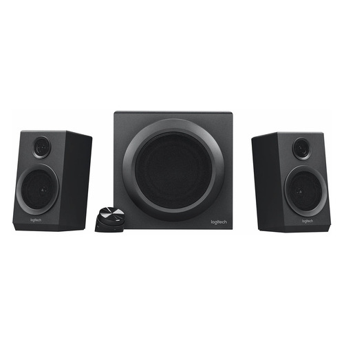 Колонки LOGITECH Z333, 2.1, черный [980-001202] колонки logitech multimedia speakers z333