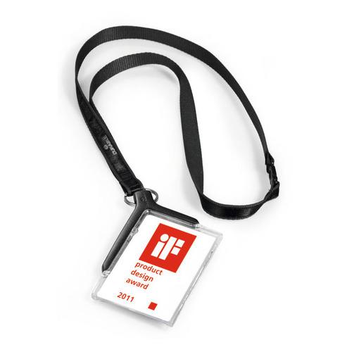 Упаковка держателей для пропуска DURABLE 8207-58, 54х85мм, серый