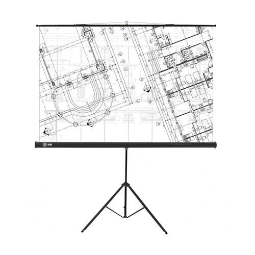 Фото - Экран CACTUS Triscreen CS-PST-127X127, 127х127 см, 1:1, напольный черный экран cactus triscreen cs pst 150x150 white