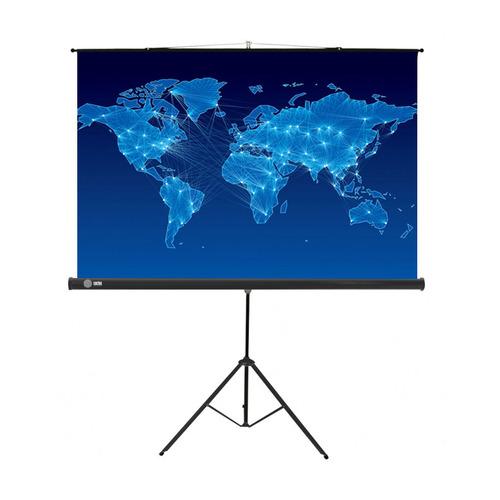 Фото - Экран CACTUS Triscreen CS-PST-150x150, 150х150 см, 1:1, напольный черный экран cactus triscreen cs pst 150x150 white