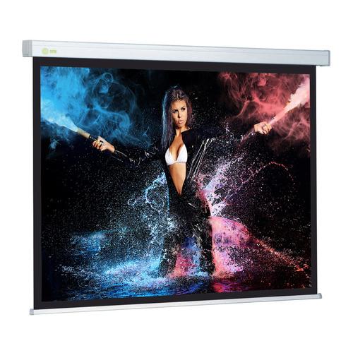 Фото - Экран CACTUS Wallscreen CS-PSW-180x180, 180х180 см, 1:1, настенно-потолочный белый экран настенный cactus cs psw 180x180 180 x 180 см